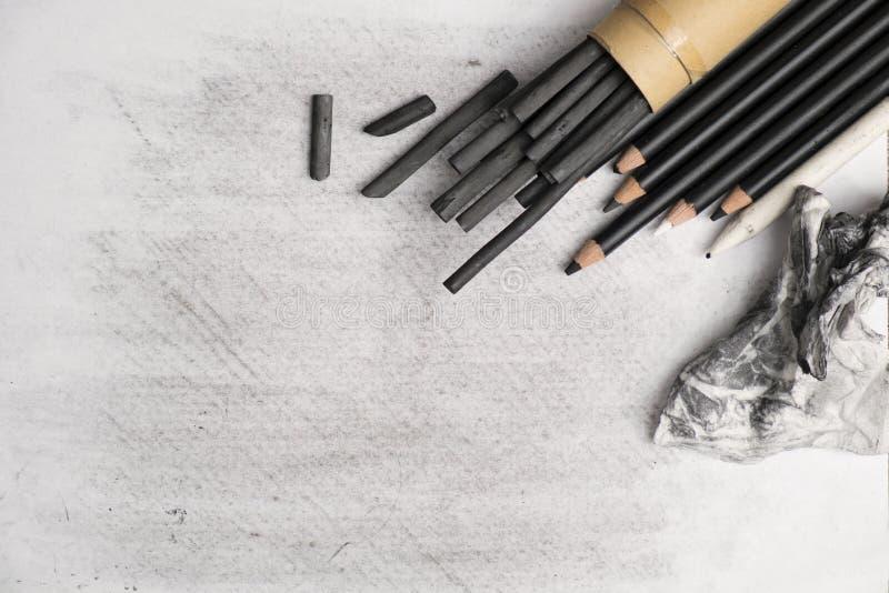 Artes do carvão vegetal foto de stock