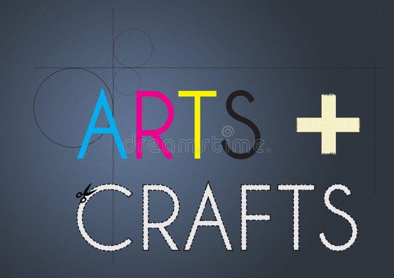 Artes e ofícios ilustração royalty free