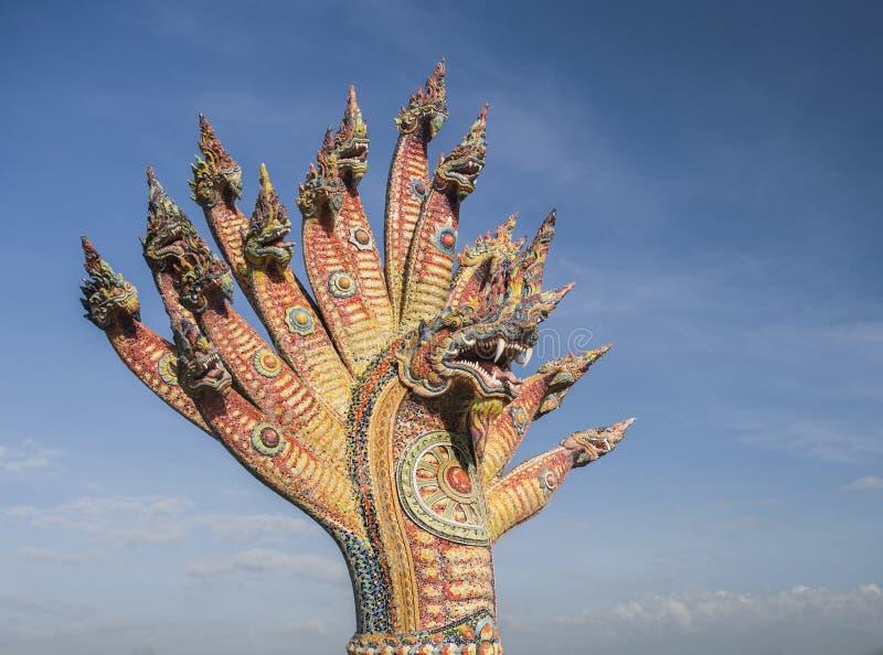 Artes exteriores del mosaico de las cabezas de Naka foto de archivo