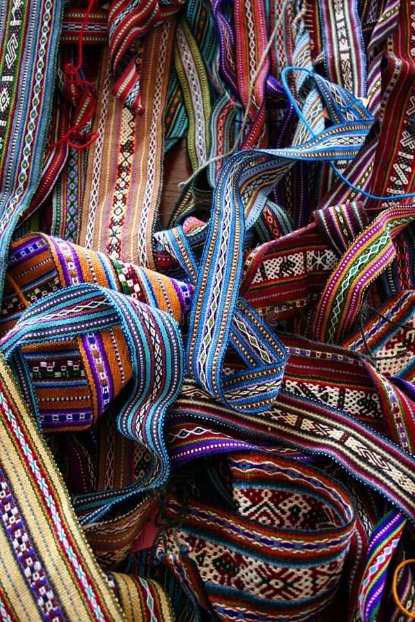 Artes hechos a mano peruanos fotografía de archivo