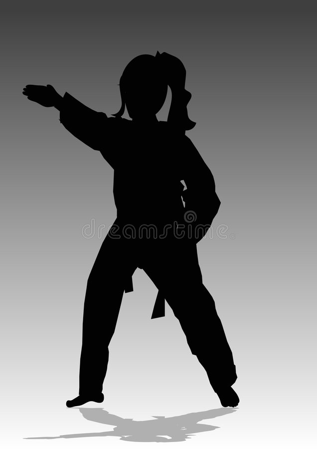 Artes marciais ilustração do vetor