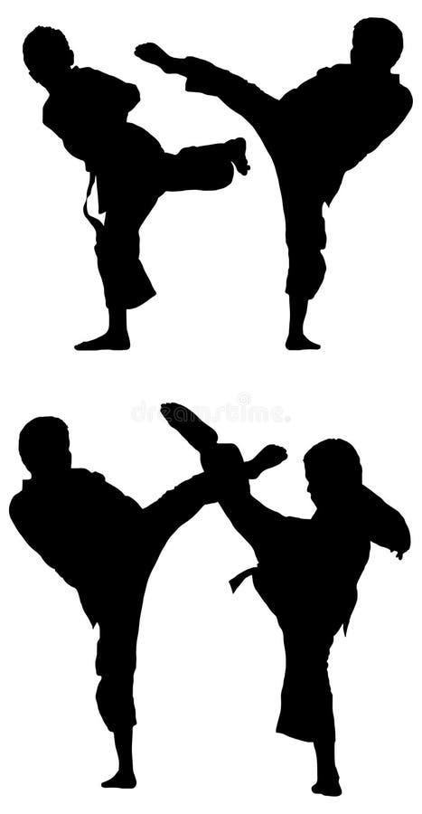 Artes marciales stock de ilustración