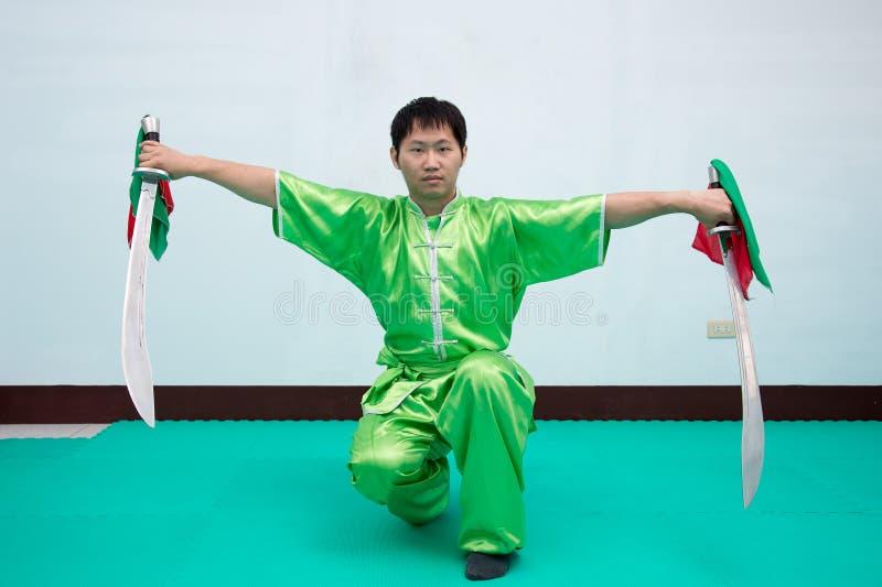 Artes marciales chinos fotos de archivo