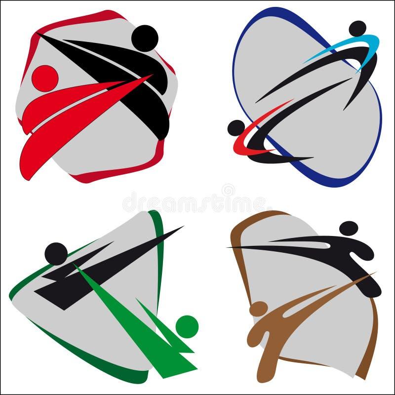 Artes marciales del símbolo stock de ilustración