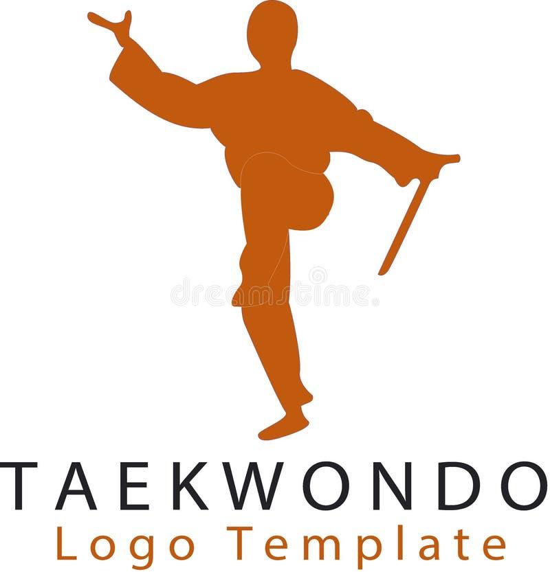 Artes marciales y templatM del logotipo ilustración del vector