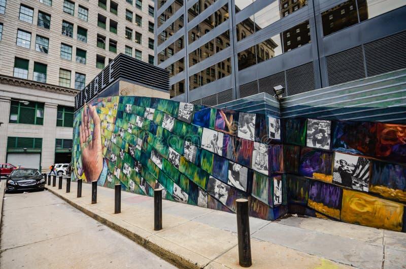 Artes murais Philadelphfia - Pensilvânia fotos de stock