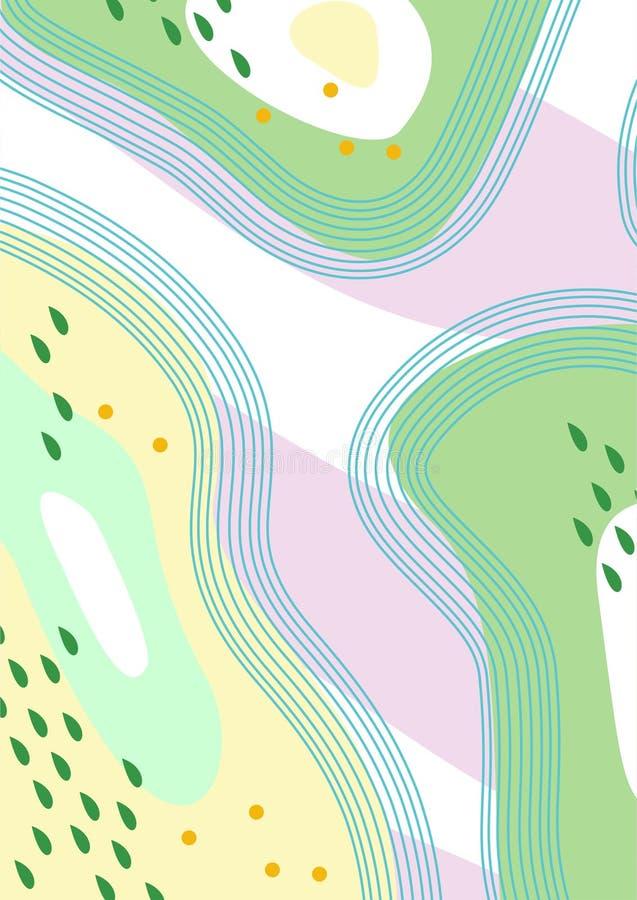Artes/pinturas/fondos/ejemplos simples coloridos de Digitaces del extracto ilustración del vector