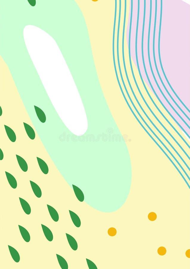Artes/pinturas/fondos/ejemplos simples coloridos de Digitaces del extracto stock de ilustración