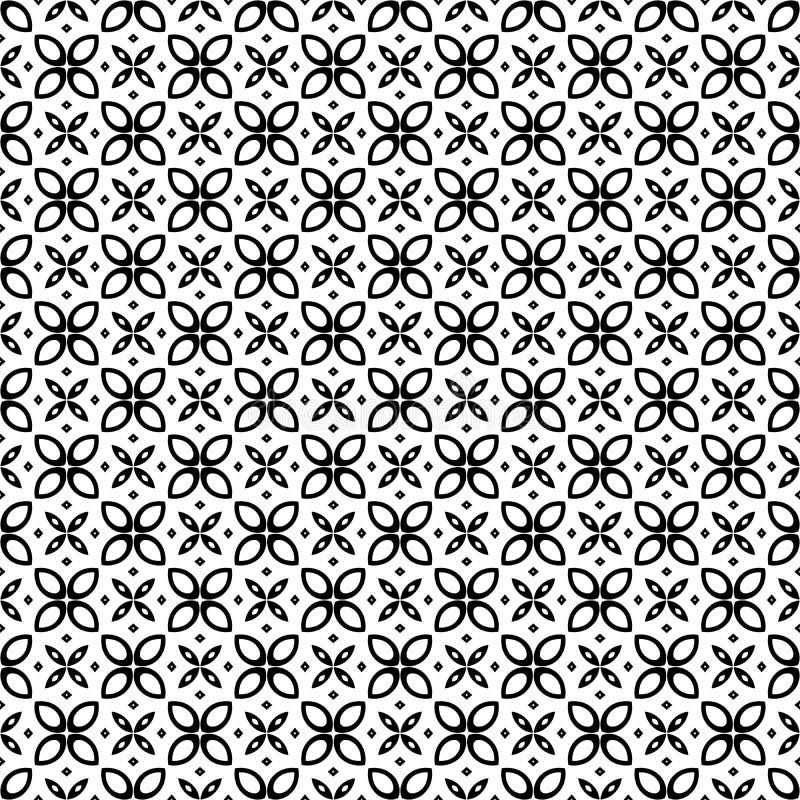 Artes preto e branco do vetor do teste padrão sem emenda do fundo ilustração royalty free