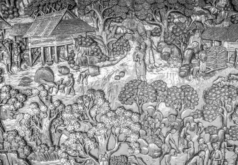 Artes tailandeses del estilo foto de archivo libre de regalías