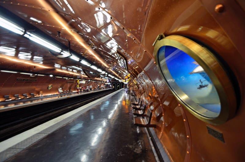 Artes y estación de metro de los Metiers imagen de archivo libre de regalías