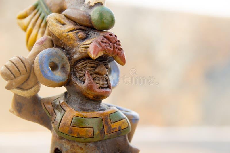 Artesanía mexicana azteca del guerrero fotografía de archivo