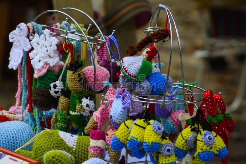 Artesanías del día de fiesta en el banquete en el pueblo foto de archivo libre de regalías