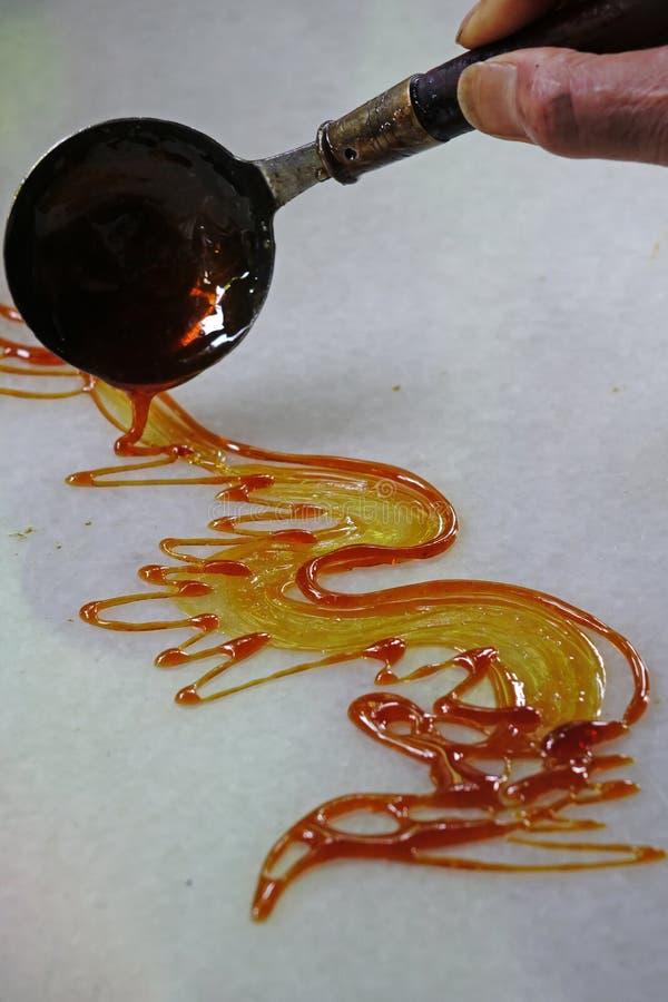 Artesanías Populares Chinas, Pintura Del Azúcar Imagen de archivo ...