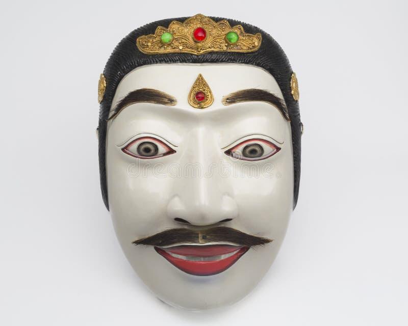 Artesanato branco tradicional da máscara do Balinese imagens de stock royalty free