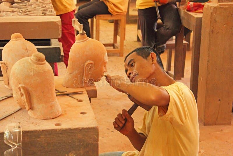 Artesanato em Cambodia imagem de stock royalty free
