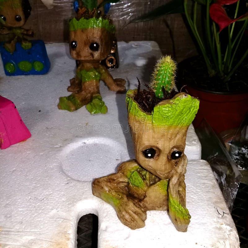 Artesania mexicana del personaje Grut. Yo soy Grut. Artesanias de madera representando al conocido personaje, elaborada de madera en el pueblo magico Mazamitla stock photo