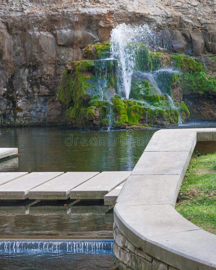 Artesian well at The Big Spring in downtown Huntsville Alabama stock images
