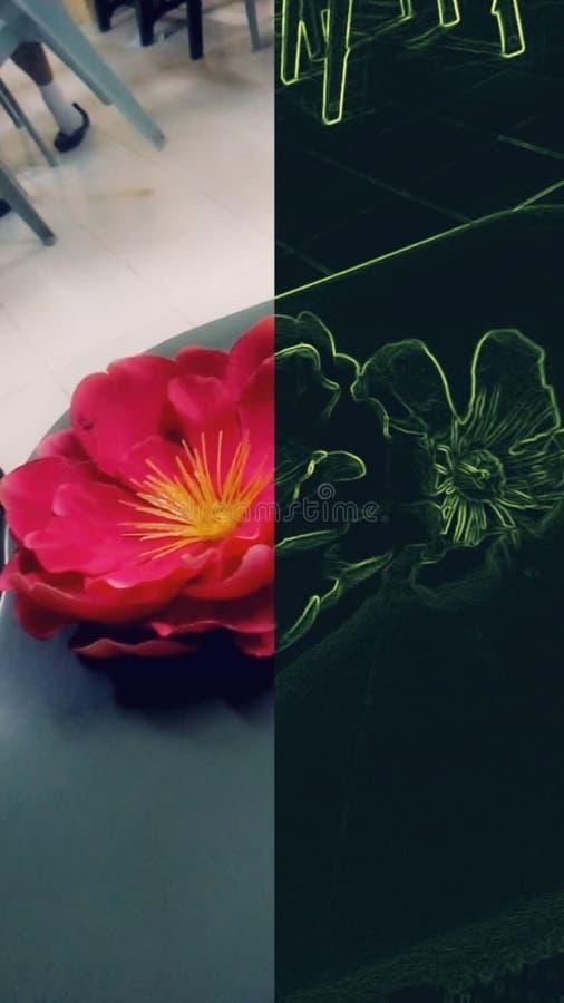 Artficial blomma vektor illustrationer