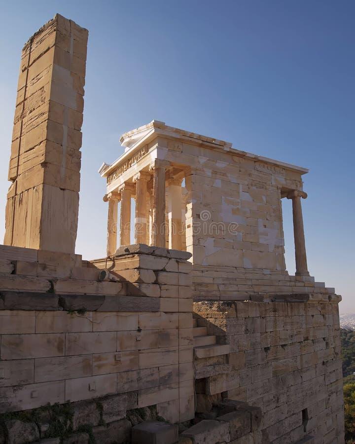 Arthens Grèce, le temple d'Athéna photos stock