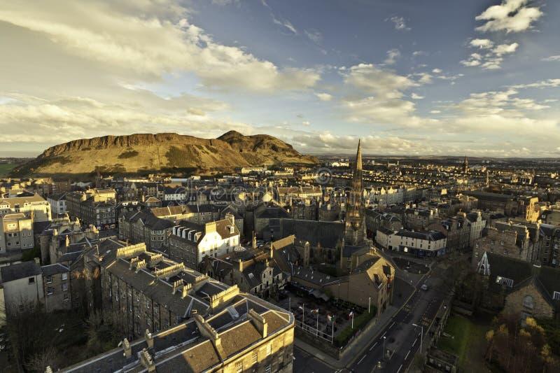 Arther seat and Edinburgh royalty free stock photo