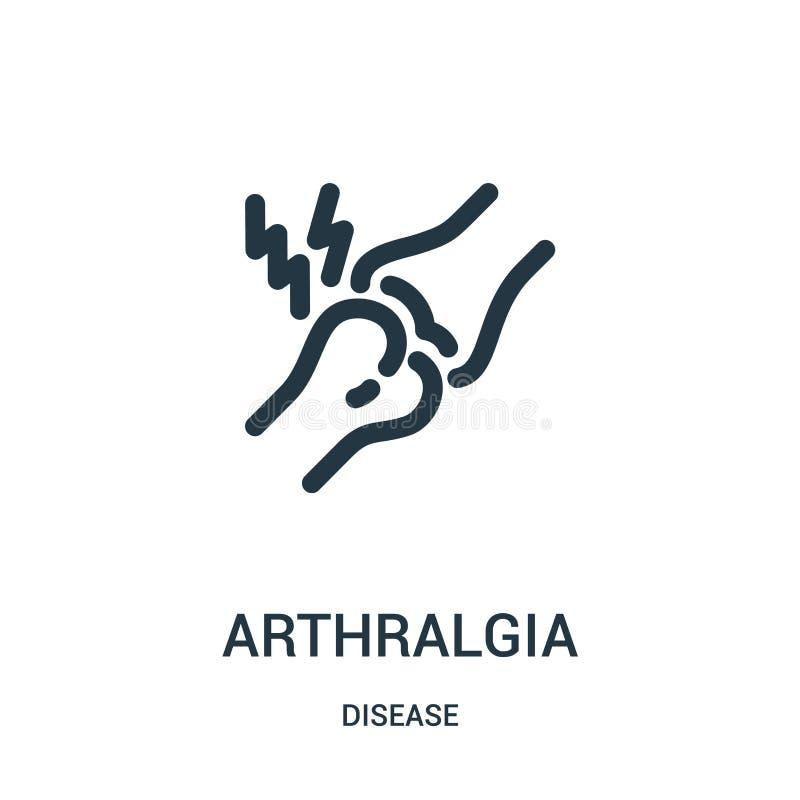 arthralgia pictogramvector van ziekteinzameling De dunne lijnarthralgia vectorillustratie van het overzichtspictogram Lineair sym vector illustratie