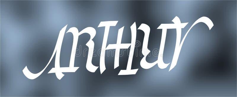 Arthur-ambigram stockbilder