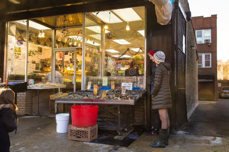 Arthur Ave. Der Bronx lizenzfreies stockbild