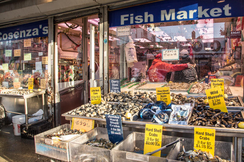 Arthur Avenue Bronx NY Little Italy royalty free stock image
