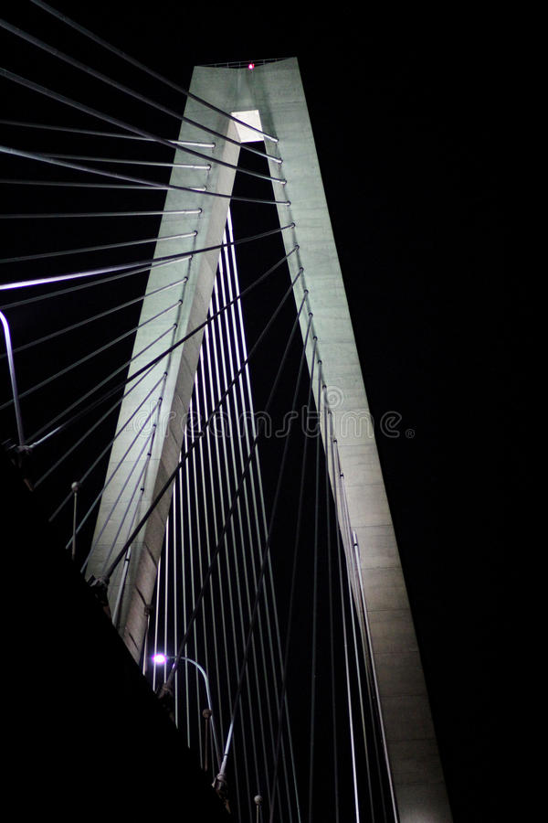 arthur bridżowy jr ravenel Most, Charleston, SC obraz royalty free