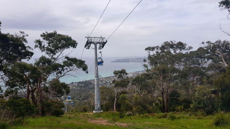 Arthur& x27; chairlift för s Seat royaltyfria bilder
