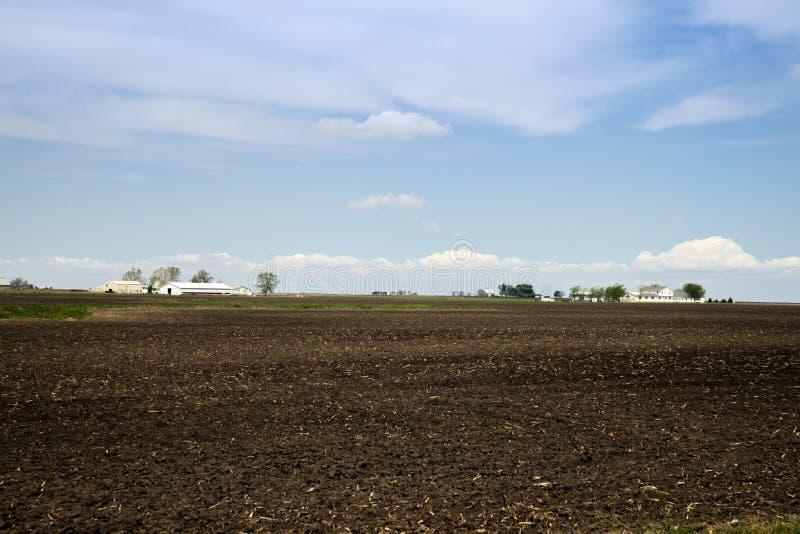 Arthur Illnois Amish-landbouwgrond stock foto's