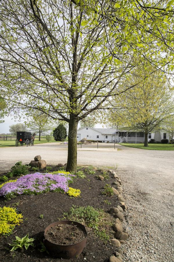 Arthur Illnois Amish-landbouwgrond royalty-vrije stock foto