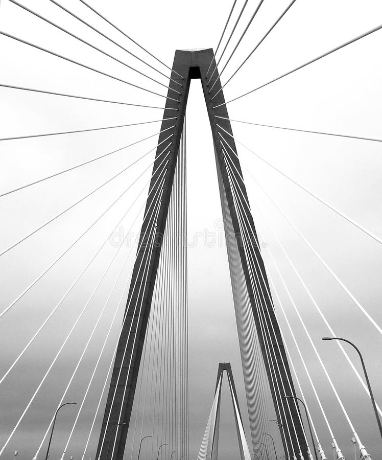 Arthur Ravenel Bridge arkivfoto