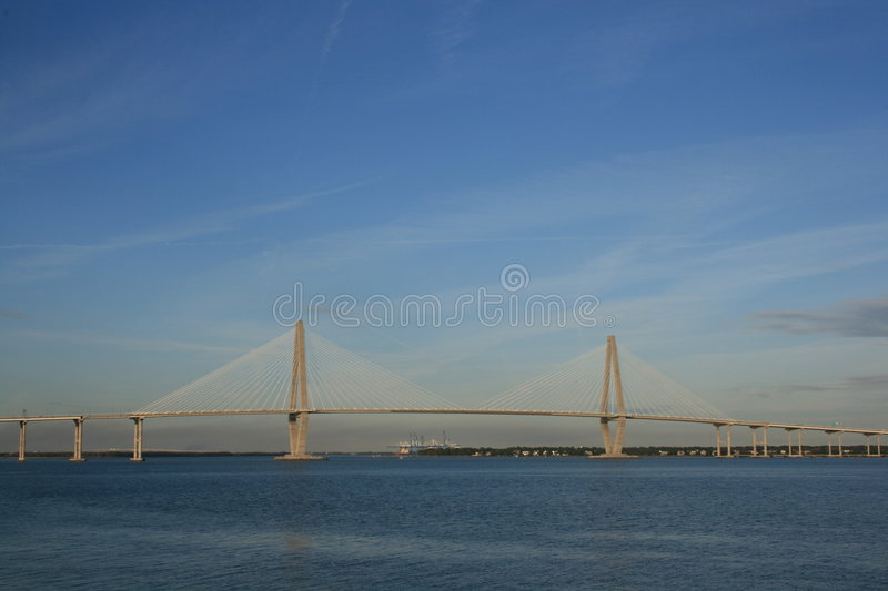 Arthur Ravenel Jr Bridge royalty free stock photo