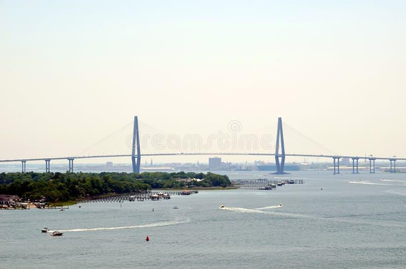 Arthur Ravenel Jr. Bridge in the Charleston, South Caroline. royalty free stock images