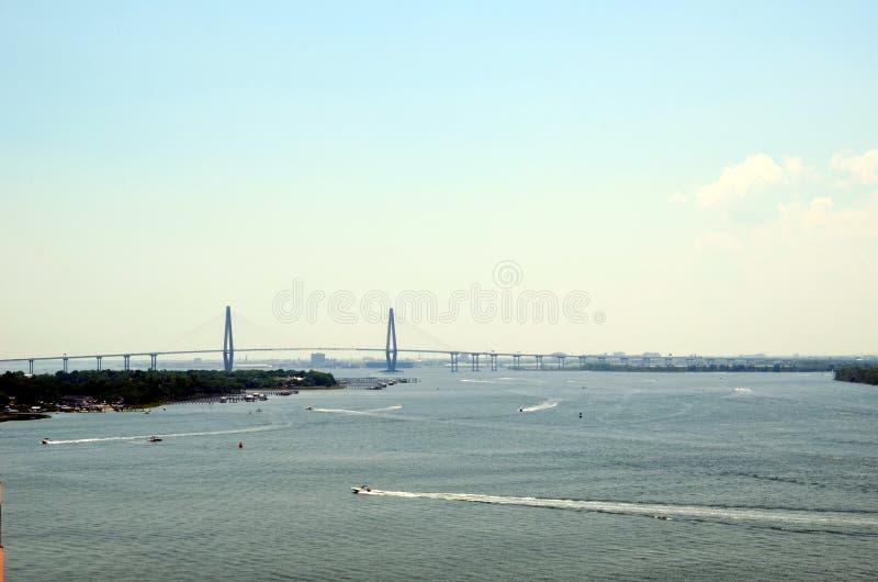 Arthur Ravenel Jr. Bridge in the Charleston, South Caroline. stock photography