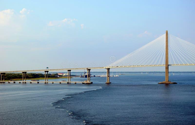 Arthur Ravenel Jr. Bridge in the Charleston, South Caroline. stock images