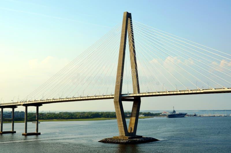 Arthur Ravenel Jr. Bridge in Charleston, South Caroline. royalty free stock images