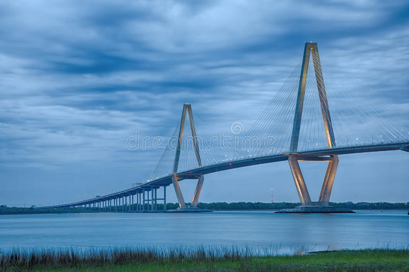 Arthur Ravenel Suspension Bridge fotografia stock libera da diritti