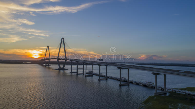 Arthur Revenel Bridge foto de archivo libre de regalías