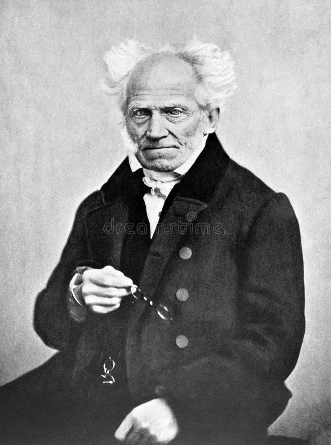 Arthur Schopenhauer imagem de stock