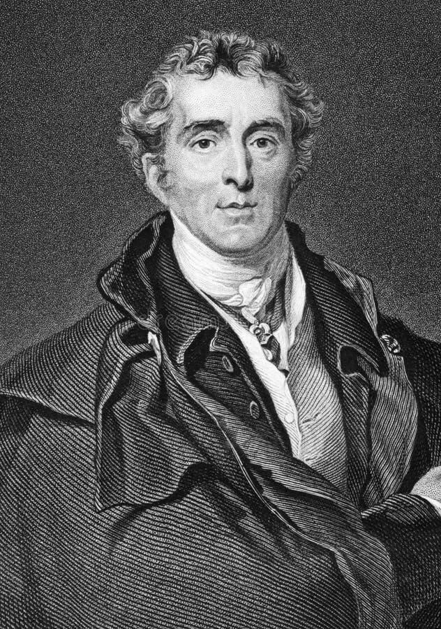 Arthur Wellesley, 1. Herzog von Wellington lizenzfreies stockfoto