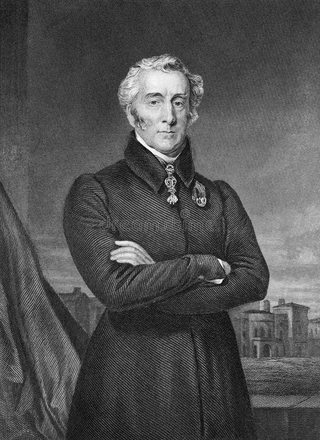 Arthur Wellesley 1st hertig av gummistöveln royaltyfria foton