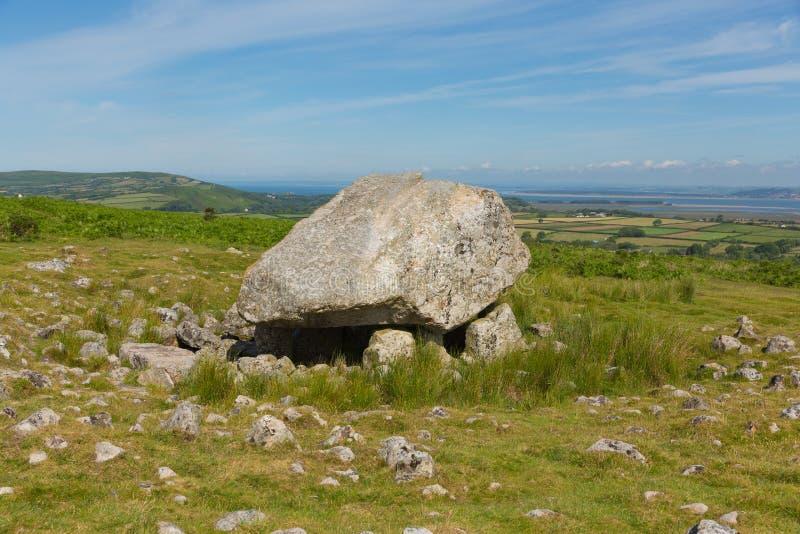 Arthurs Dryluje Cefn Bryn wzgórze Gower półwysepa południowe walie UK zdjęcia royalty free