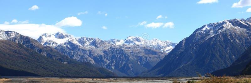 Arthurs Durchlauf Nationalpark Neuseeland stockbild