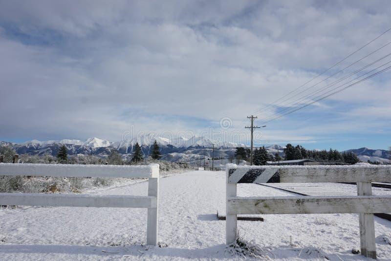 Arthurs passerande i snö royaltyfria bilder