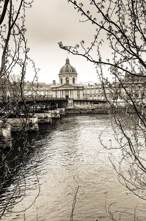 Arti in bianco e nero del DES di Passerelle a Parigi immagini stock libere da diritti