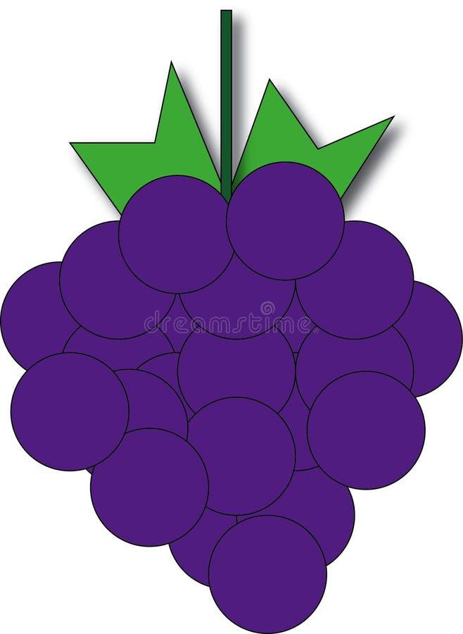 Arti crude dell'uva illustrazione di stock