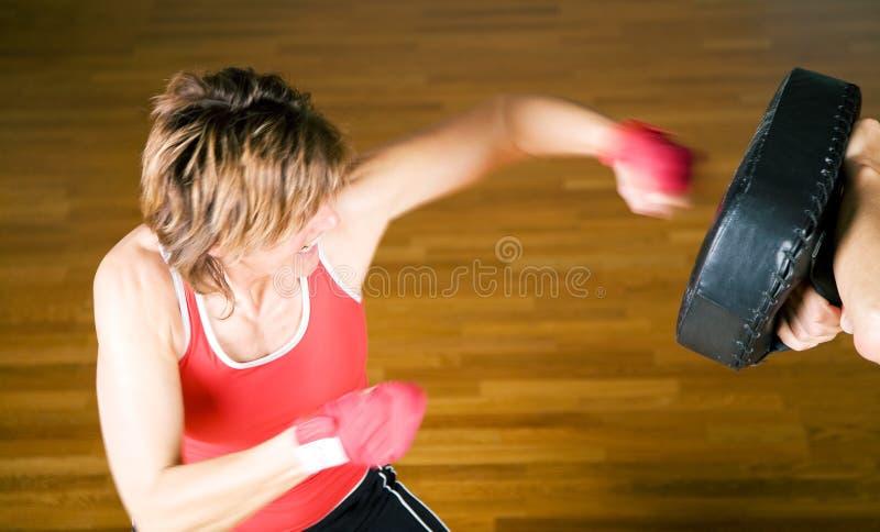 Arti marziali che Sparring punzone fotografia stock